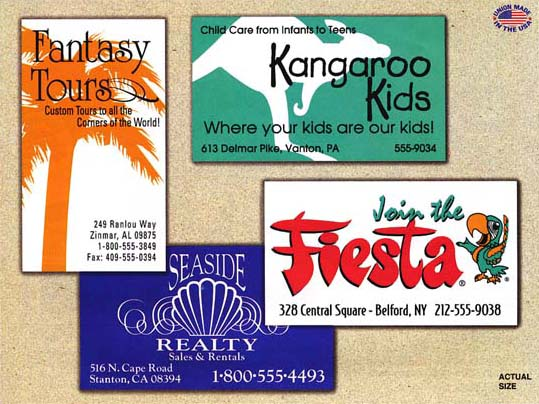American advertising specializing in american union for Union made business cards