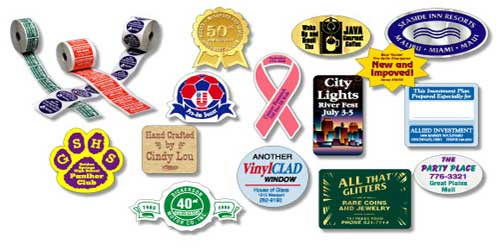 Union made lapel stickers roll labels